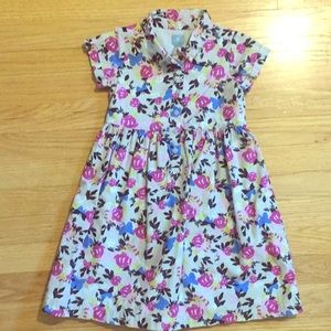 Baby Gap Abstract Flower Dress Size 5 Toddler Girl